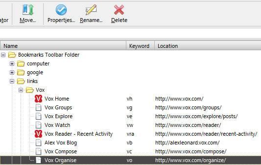 My Firefox-Vox keywords