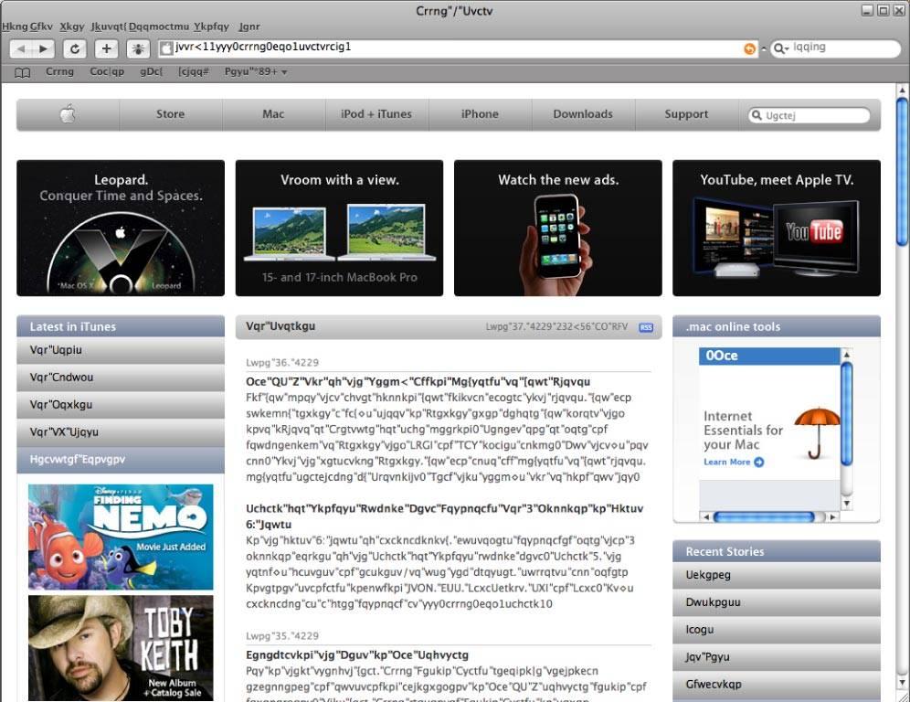 Safari for Windows Screenshot