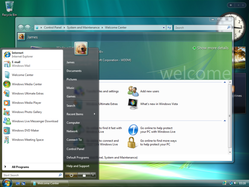 Windows Vista Desktop