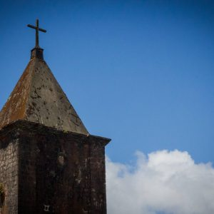 The old abandoned church at the top of Bokkor Mountain, Cambodia