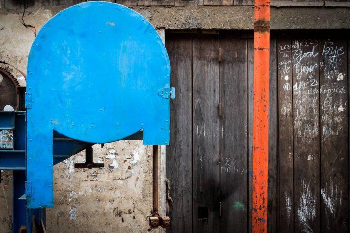 Machines and doorways - A photo by Alex Leonard