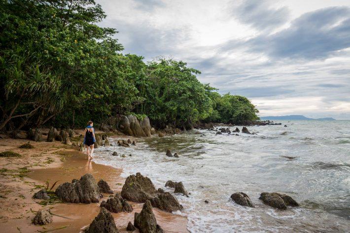 Adrianna on the beach - A photo by Alex Leonard